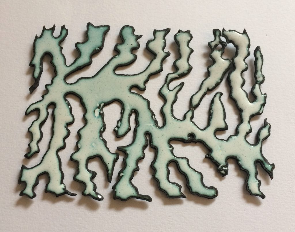 Enamel work by Vanessa Sharp